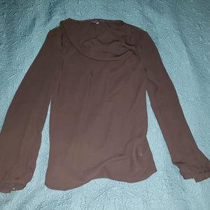 Lands End size 6 black blouse